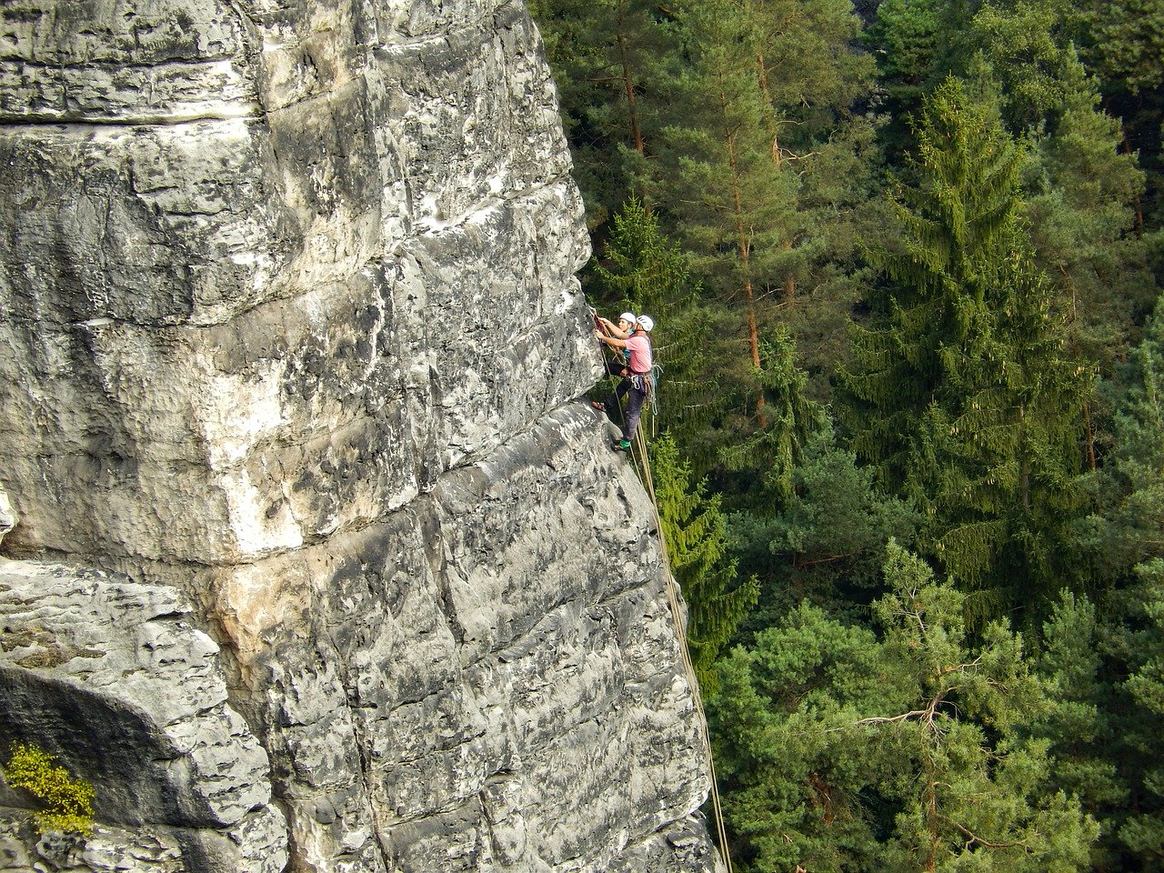 elbe sandstone mountains, malerweg, mountaineer